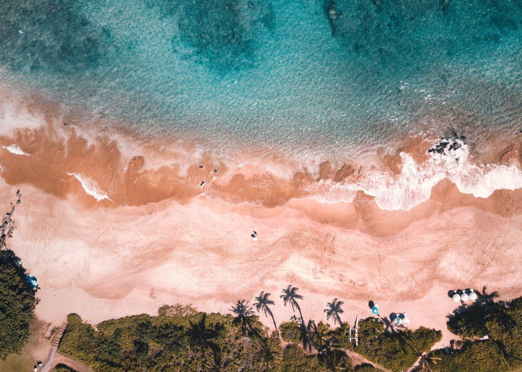 Maui beach drone photo