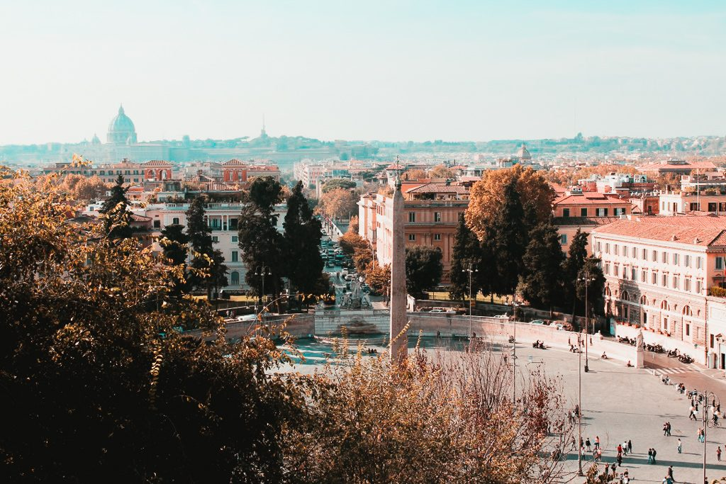 View over Popolo rome