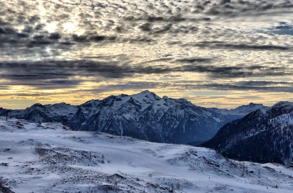 San martino skiing in trentino