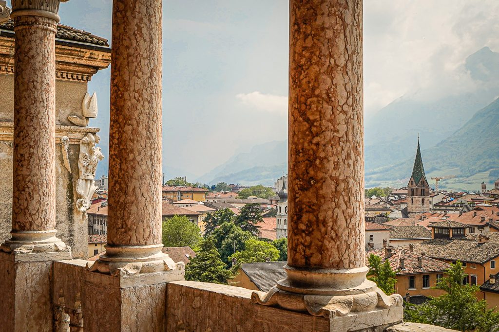 trentino castle view over city