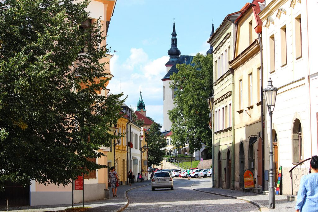 pretty street in Lito, czech republic