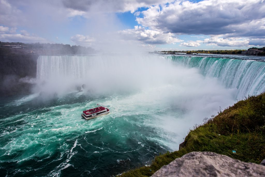 Niagra falls in the united states of america