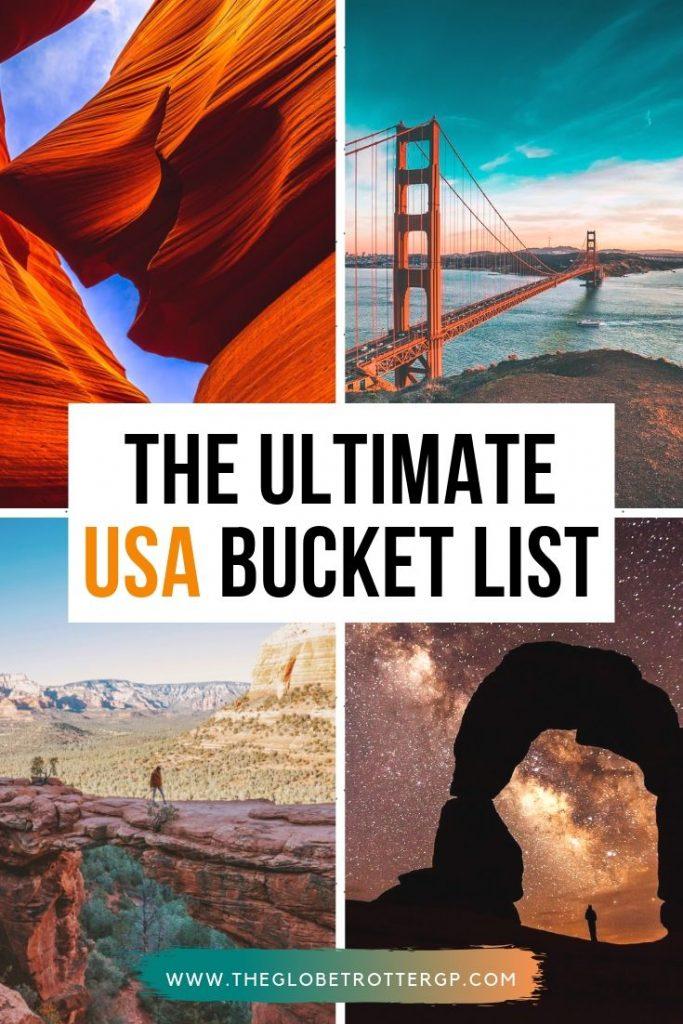 THE ULTIMATE USA BUCKET LIST