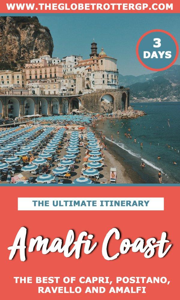 a 3 day amalfi coast itinerary