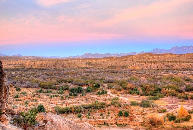big bend national park texas at dusk