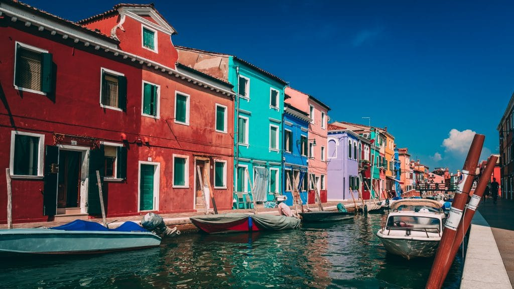 burano colourful houses venice europe