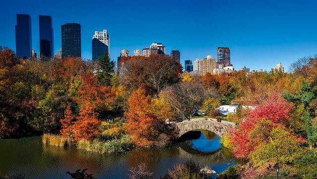 central park new york city, USA, in autumn