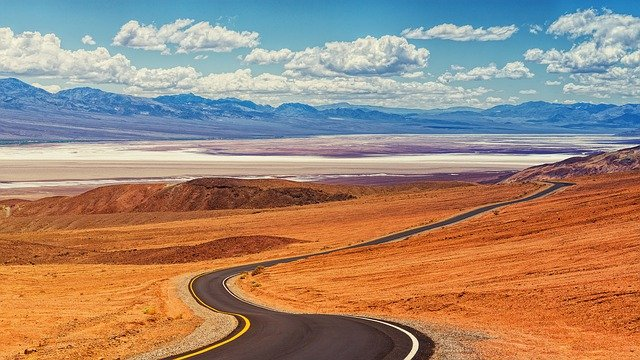 death valley national park USA desert road
