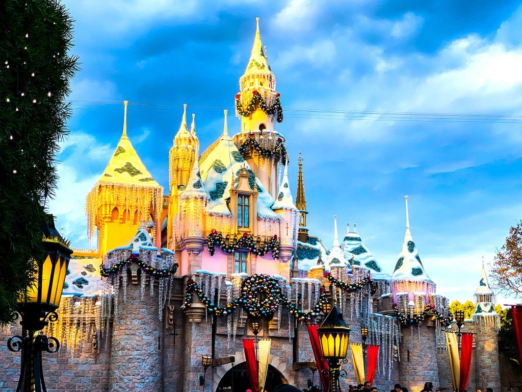 disneyland california picture of the magical castle