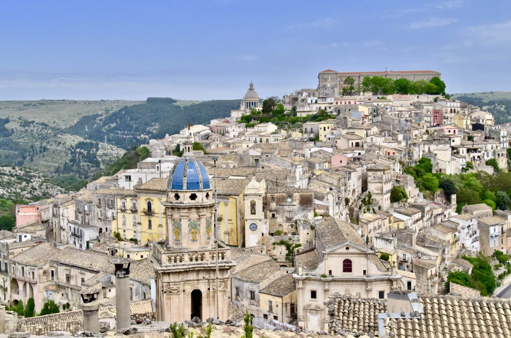 ragusa ariel view of the town