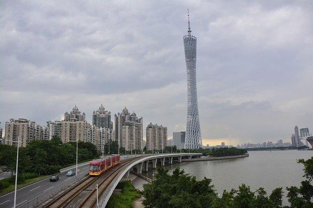 guangzhou pearl river and canton tower