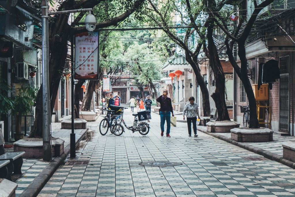 pretty steet in guangzhou
