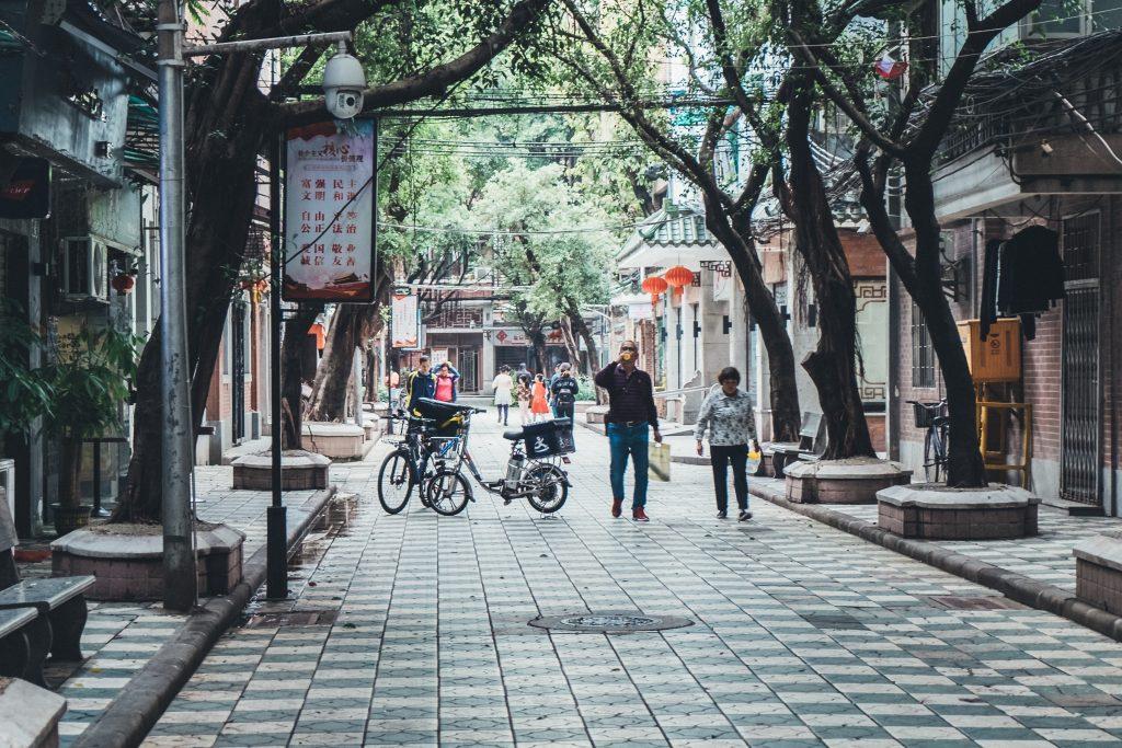 pretty steet in guangzhou