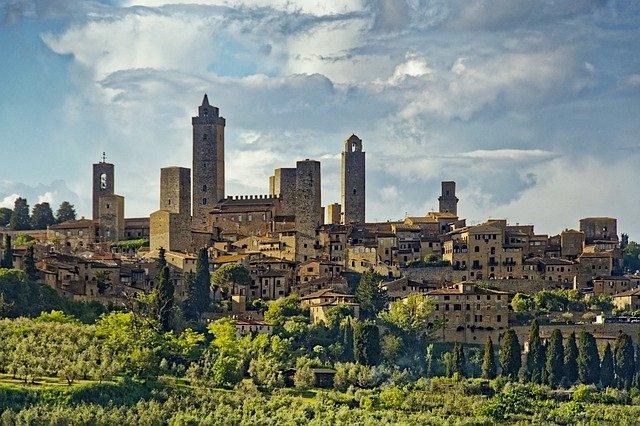 san gimignano medieval town chianti region of tuscany