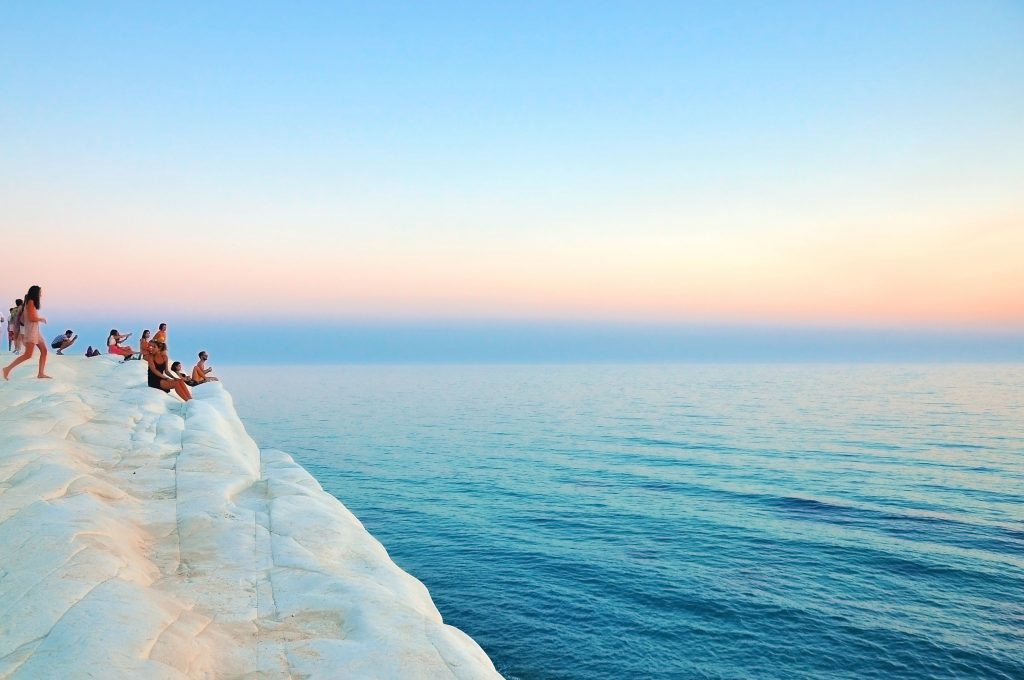 scala dei turchi sunset white limestone natural staircase