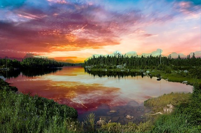 sunrise at lake superior