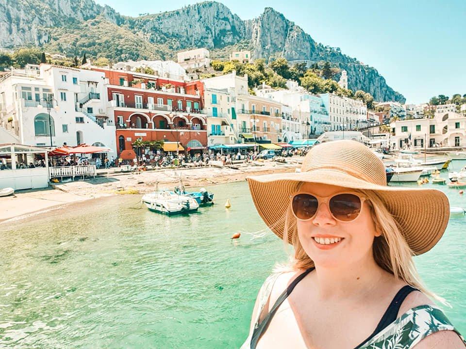 the globetrotter gp at the colourful harbour on island of capri amalfi coast