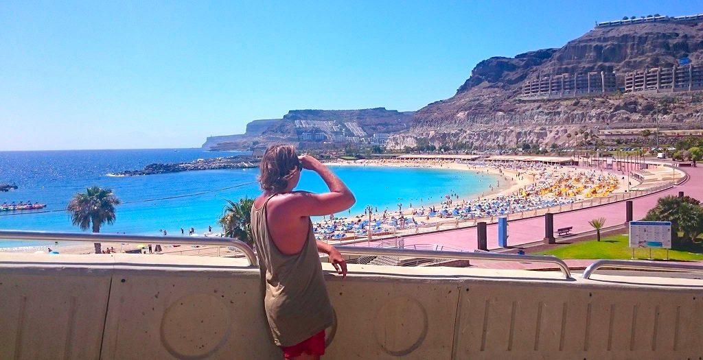 Overlooking a beach on Gran Canaria