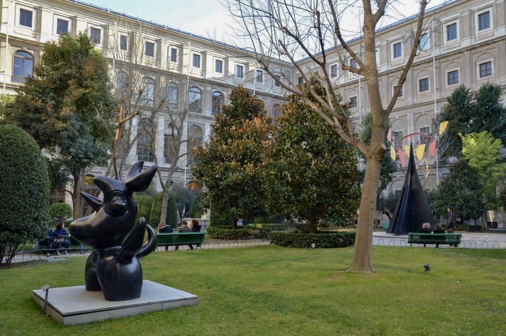 Sculpture in the garden at Museo Nacional Centro de Arte Reina Sofia