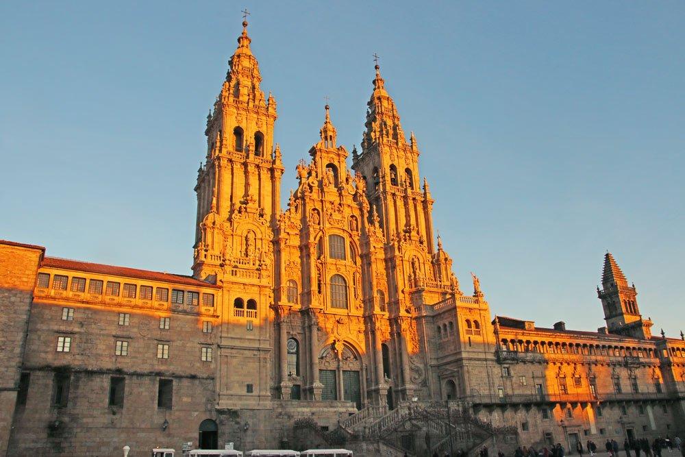 Santiago de Compostela Cathedral Spain in winter