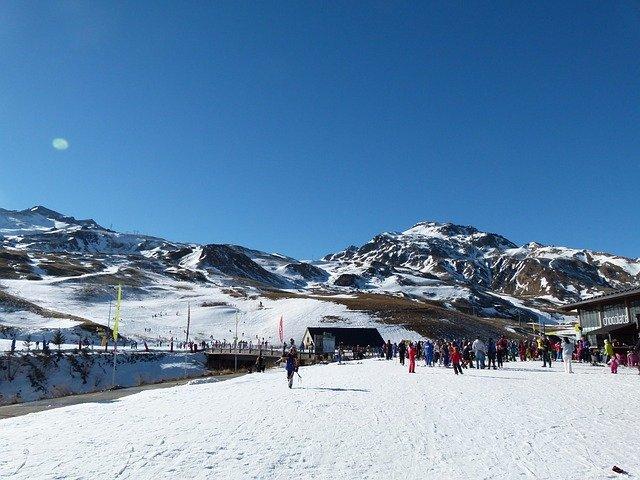 ski slopes in spain in winter