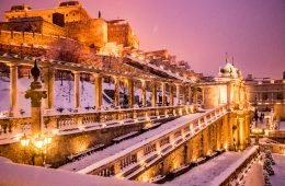 Buda Castle in winter Budapest