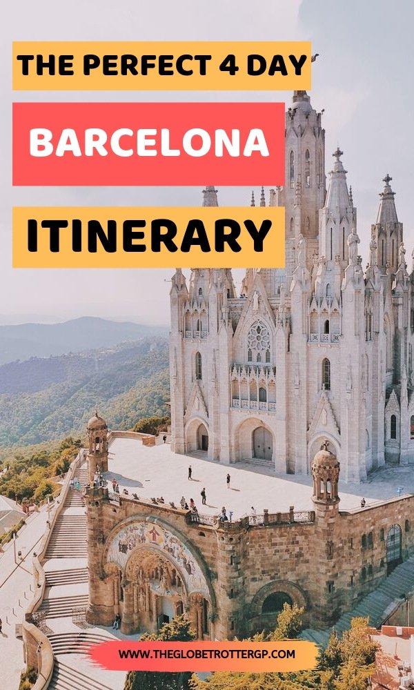 barcelona itinerary pin