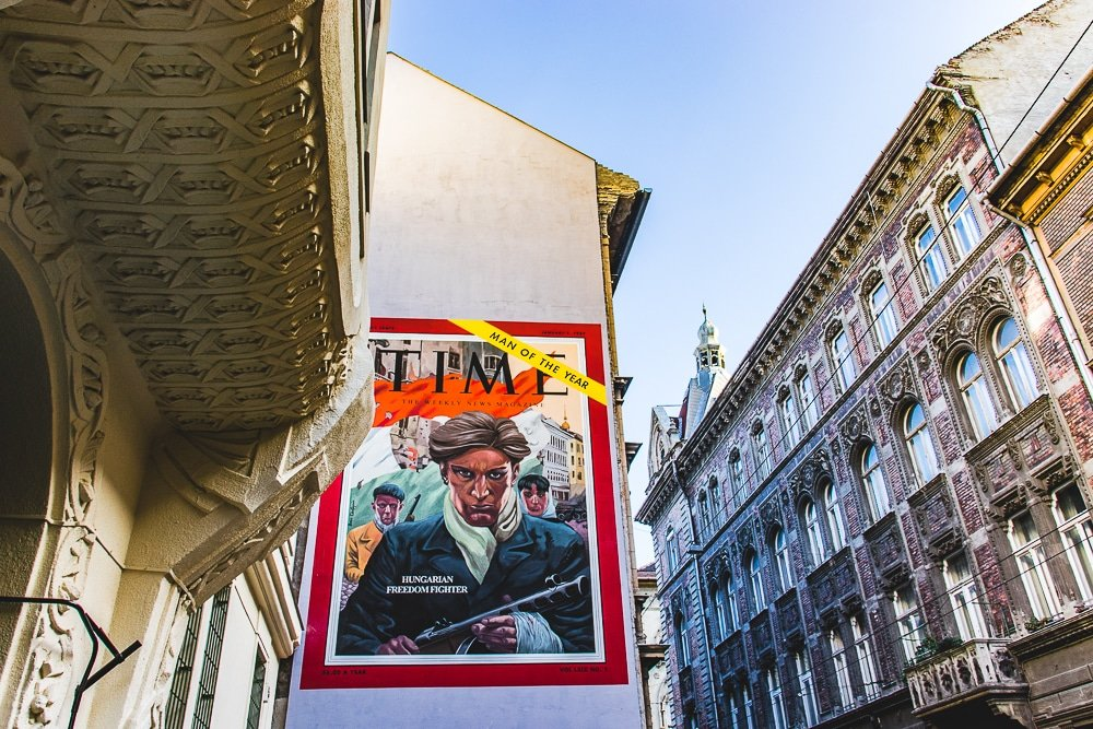 Man of the Year - Hungarian Freedom Fighter Street art Budapest