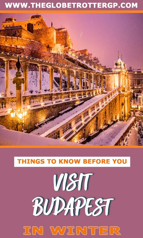 budapest in winter pin
