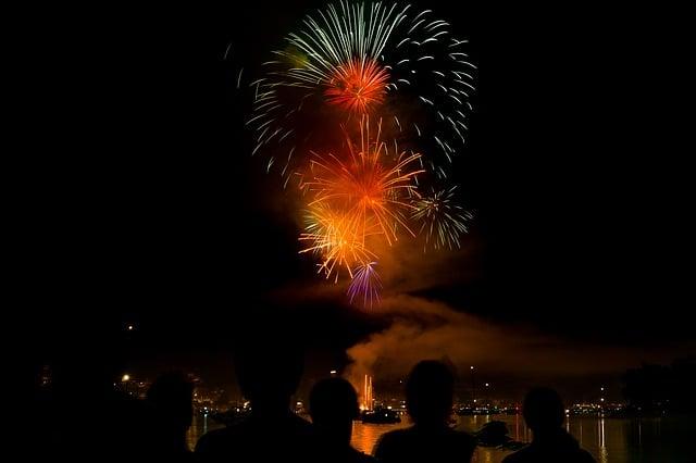 new years eve fireworks in zurich