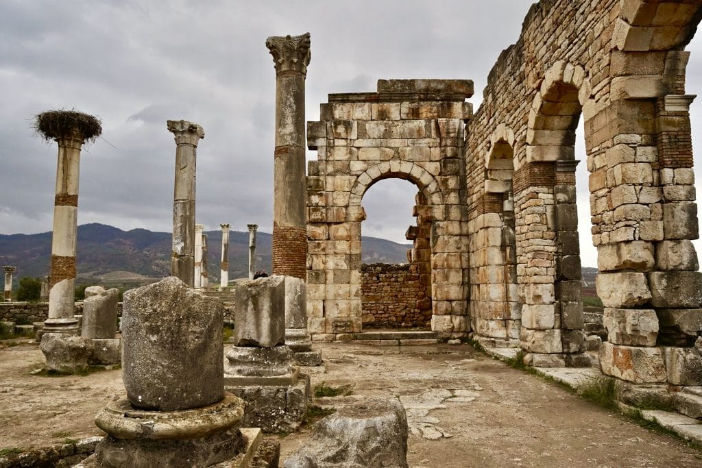 volubilis roman ruins in northern morocco