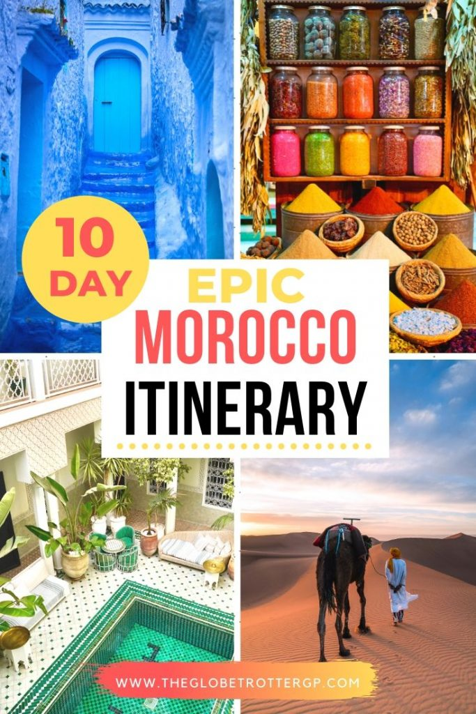 10 day morocco itinerary pin