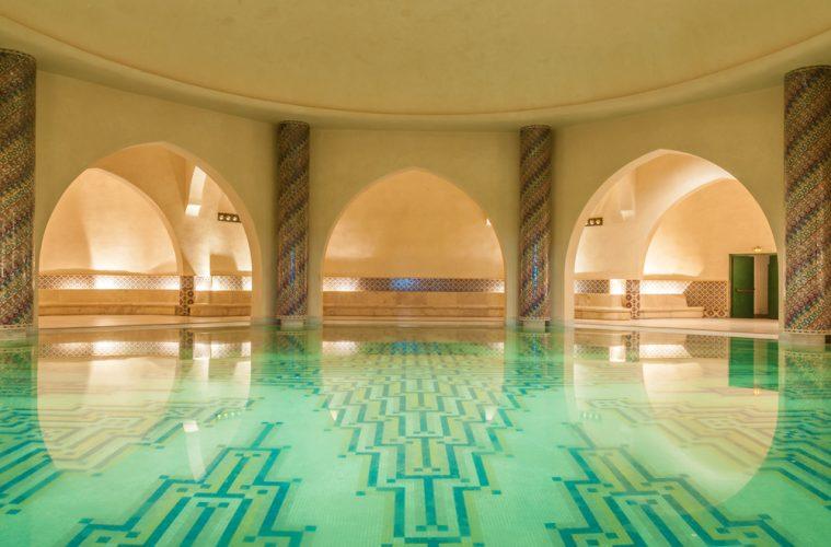 Interior of a traditional moroccan bath - hammam