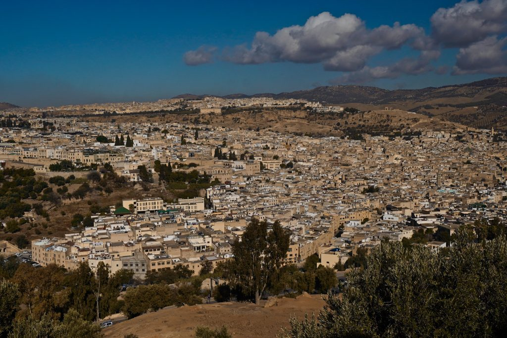 view of fes from above at borj sud viewpoint - a stop on this one day in fes itinerary
