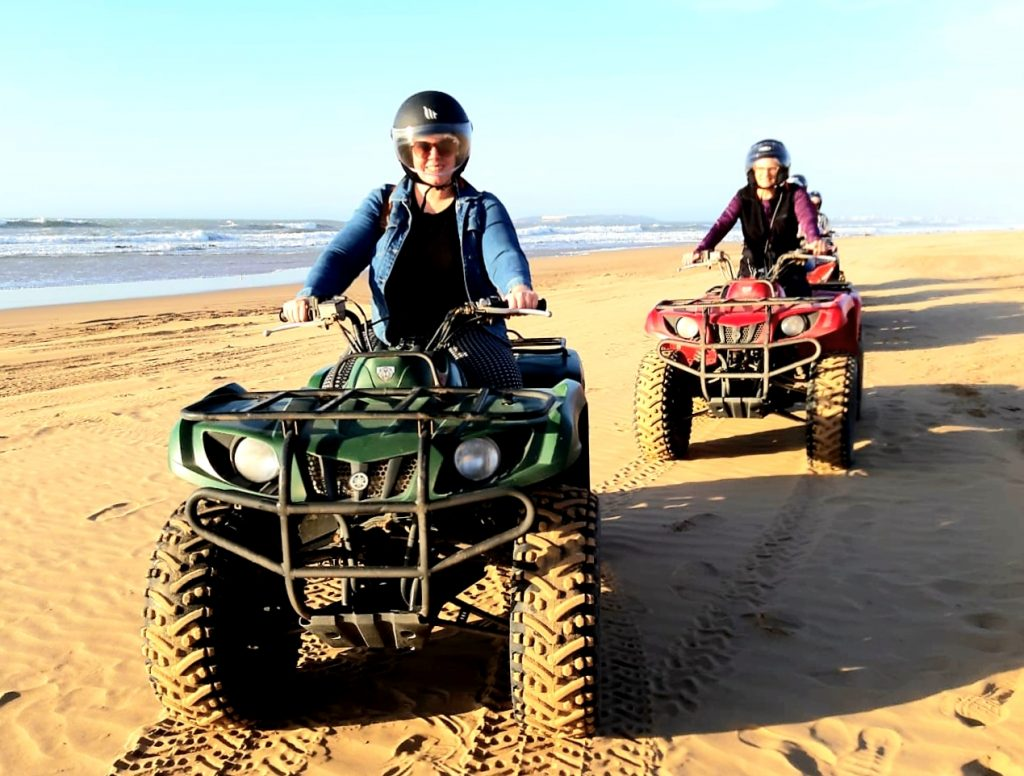 me quad biking on the beach in essaouira