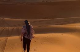 me walking in the sahara desert in morocco