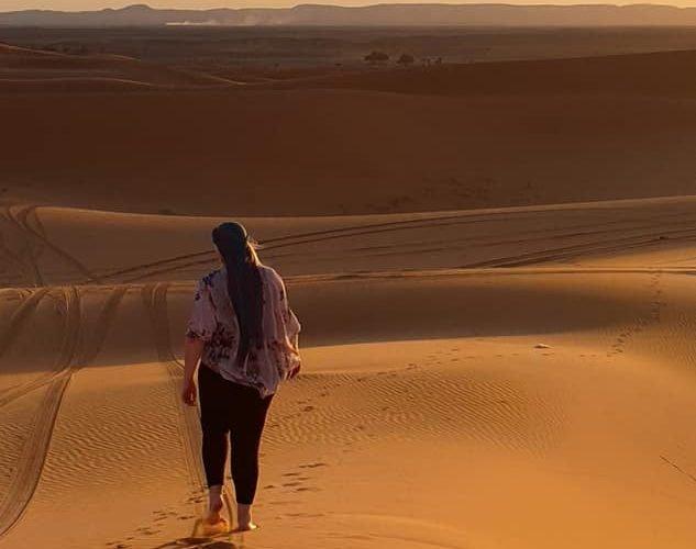 me walking in the sahara desert in morocco
