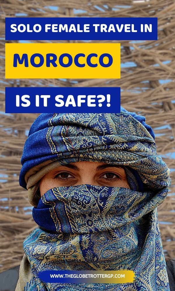 solo female travel in morocco pin