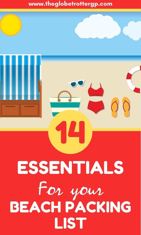 Beach packing list pin